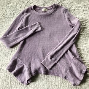 Anthropologie t.la Long Sleeve Textured Top- small